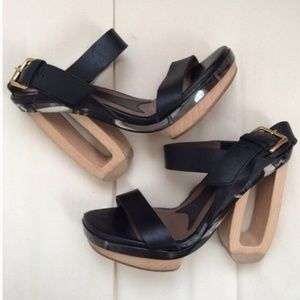 Marni black lucite detail runway size 39 heels